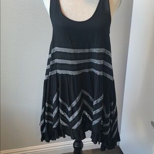Free People intimately black and grey dress. Small